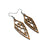 Arrowhead 01 [S] // Wood Earrings - Walnut - LIGHT RAZOR DESIGN STUDIO