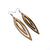 Totem 07 [L] // Wood Earrings - Walnut - LIGHT RAZOR DESIGN STUDIO