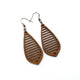 Gem Point 10 [M] // Wood Earrings - Sapele - LIGHT RAZOR DESIGN STUDIO