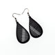 Drop 06 [S] // Leather Earrings - Black - LIGHT RAZOR DESIGN STUDIO
