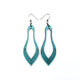 Terrabyte 02_2 // Leather Earrings - Turquoise Pearl - LIGHT RAZOR DESIGN STUDIO
