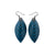 Terrabyte 14 [S] // Leather Earrings - Blue - LIGHT RAZOR DESIGN STUDIO