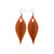 Terrabyte 10 // Leather Earrings - Orange