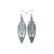 Totem 06 [S] // Leather Earrings - Silver - LIGHT RAZOR DESIGN STUDIO