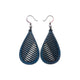 Drop 06 [S] // Leather Earrings - Navy Blue - LIGHT RAZOR DESIGN STUDIO