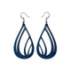 Drop 03 [L] // Leather Earrings - Navy Blue - LIGHT RAZOR DESIGN STUDIO