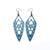 Arrowhead 01 [L] // Leather Earrings - Blue Pearl - LIGHT RAZOR DESIGN STUDIO