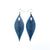 Terrabyte 10 // Leather Earrings - Light Navy Blue