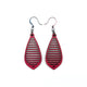 Gem Point 10 [S] // Leather Earrings - Red - LIGHT RAZOR DESIGN STUDIO