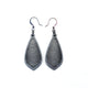 Gem Point 13 [S] // Leather Earrings - Silver - LIGHT RAZOR DESIGN STUDIO