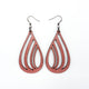 Drop 02 [L] // Leather Earrings - Red Pearl - LIGHT RAZOR DESIGN STUDIO