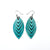 Terrabyte 14 [S] // Leather Earrings - Light Turquoise - LIGHT RAZOR DESIGN STUDIO