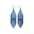 Terrabyte 17 // Leather Earrings - Navy Blue Pearl