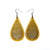 Drop 04 [L] // Leather Earrings - Gold - LIGHT RAZOR DESIGN STUDIO