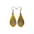 Gem Point 14 [S] // Leather Earrings - Gold - LIGHT RAZOR DESIGN STUDIO