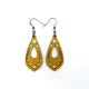 Gem Point 05 [S] // Leather Earrings - Gold - LIGHT RAZOR DESIGN STUDIO