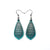 Gem Point 10 [S] // Leather Earrings - Turquoise Pearl - LIGHT RAZOR DESIGN STUDIO
