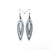 Totem 07 [S] // Leather Earrings - Silver - LIGHT RAZOR DESIGN STUDIO