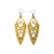 Arrowhead 01 [L] // Leather Earrings - Gold - LIGHT RAZOR DESIGN STUDIO