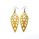 Arrowhead 02 [L] // Leather Earrings - Gold - LIGHT RAZOR DESIGN STUDIO
