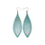 Terrabyte v.11_5 // Leather Earrings - Turquoise Pearl - LIGHT RAZOR DESIGN STUDIO