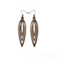 Totem 01 [S] // Wood Earrings - Walnut - LIGHT RAZOR DESIGN STUDIO