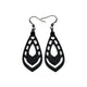 Gem Point 04 [S] // Leather Earrings - Black - LIGHT RAZOR DESIGN STUDIO