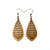 Gem Point 12 [S] // Wood Earrings - Cherry - LIGHT RAZOR DESIGN STUDIO