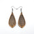 Gem Point 10 [S] // Wood Earrings - Jatoba