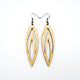 Totem 08 [L] // Wood Earrings - Ash