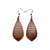 Gem Point 12 [S] // Wood Earrings - Sapele - LIGHT RAZOR DESIGN STUDIO