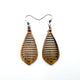 Gem Point 10 [S] // Wood Earrings - Bolivian Rosewood