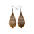 Gem Point 12 [S] // Wood Earrings - Jatoba