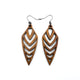 Arrowhead 03 [S] // Wood Earrings - Walnut - LIGHT RAZOR DESIGN STUDIO