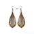 Gem Point 02 [S] // Wood Earrings - Jatoba