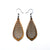Gem Point 11 [S] // Wood Earrings - Bolivian Rosewood