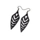 Arrowhead 03 [S] // Leather Earrings - Black - LIGHT RAZOR DESIGN STUDIO