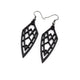 Arrowhead 01 [S] // Leather Earrings - Black - LIGHT RAZOR DESIGN STUDIO