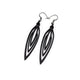 Totem 01 [S] // Leather Earrings - Black - LIGHT RAZOR DESIGN STUDIO