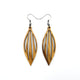 Petal 04 [S] // Wood Earrings - Canarywood