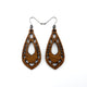 Gem Point 05 [S] // Wood Earrings - Walnut - LIGHT RAZOR DESIGN STUDIO