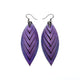Terrabyte 14 [M] // Leather Earrings - Light Purple - LIGHT RAZOR DESIGN STUDIO