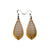 Gem Point 10 [S] // Wood Earrings - Canarywood