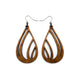 Drop 03 [S] // Wood Earrings - Walnut - LIGHT RAZOR DESIGN STUDIO