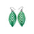Terrabyte 14 [S] // Leather Earrings - Green Pearl - LIGHT RAZOR DESIGN STUDIO