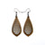 Gem Point 14 [S] // Wood Earrings - Walnut - LIGHT RAZOR DESIGN STUDIO