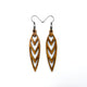Totem 05 [S] // Wood Earrings - Bolivian Rosewood