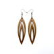 Totem 08 [L] // Wood Earrings - Walnut - LIGHT RAZOR DESIGN STUDIO