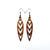 Totem 05 [S] // Wood Earrings - Sapele - LIGHT RAZOR DESIGN STUDIO