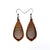 Gem Point 14 [S] // Wood Earrings - Sapele - LIGHT RAZOR DESIGN STUDIO